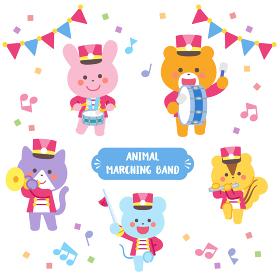 動物のマーチングバンド キャラクターセット
