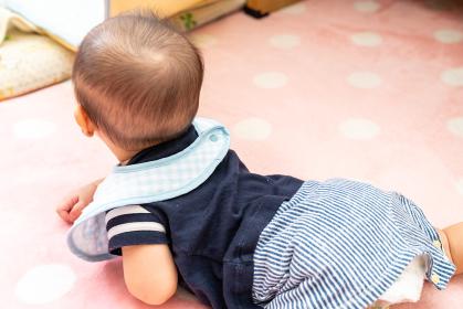 可愛い男の赤ちゃんの写真。乳幼児のイメージ。