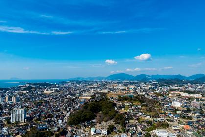 海峡ゆめタワーから見る下関市街地