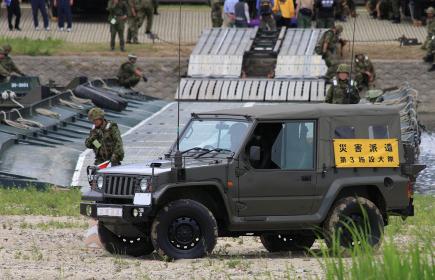 2014年実施の南海レスキューにて、陸上自衛隊のジーブ