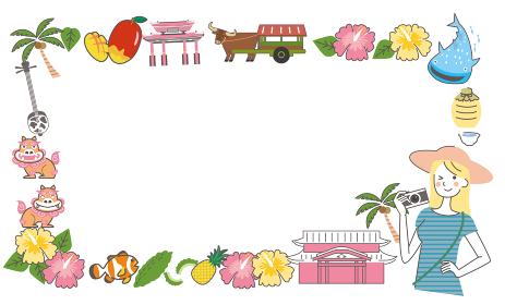 沖縄 旅行 観光 フレーム