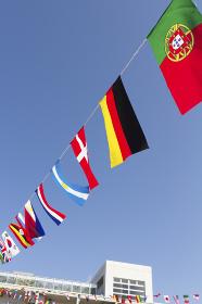 運動会の万国旗