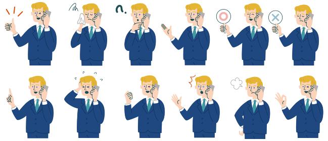 スーツ 男性 外国人 ブロンド 携帯電話 スマホ セット