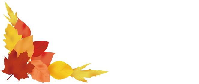紅葉した葉っぱのコーナーフレーム