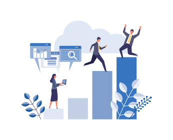 目標達成を掲げるビジネスマンのイメージ