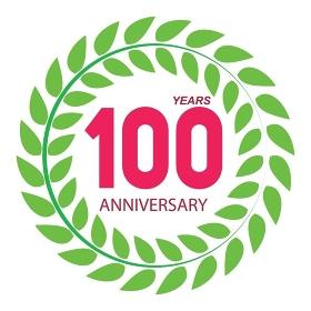 Template Logo 100 Anniversary in Laurel Wreath Vector Illustration EPS10. Template Logo 100 Anniversary in Laurel Wreath Vector Illustrati