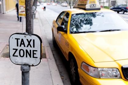 ダウンタウンのタクシー乗り場