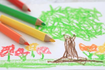 色鉛筆を使ったお絵かきで子供の才能を伸ばす