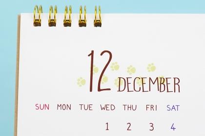 カレンダー 12月
