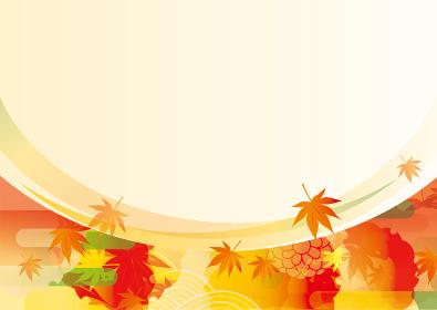 美しい紅葉の背景イラスト