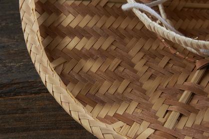 飛騨の伝統工芸品 「宮笠」 のアップ