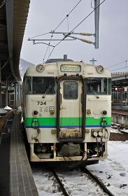 鉄道 JR北海道 江差線・函館駅にてキハ40