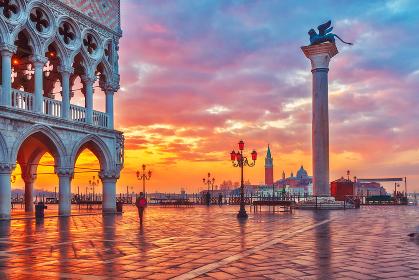 Sunrise at piazza San Marco in Venice