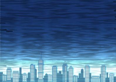 不穏な空気の街並み背景