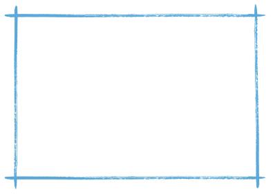 和風の手書き筆書きフレーム素材