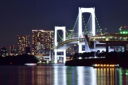 東京夜景 お台場 レインボーブリッジ