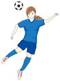 サッカーをする女性08