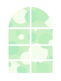 背景素材 窓 水玉 グリーン