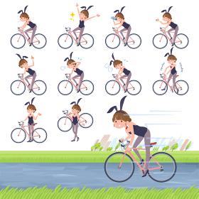 flat type bunny suit women_road bike
