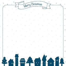 クリスマスの背景イラスト(青)