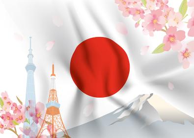 日の丸と日本の風景