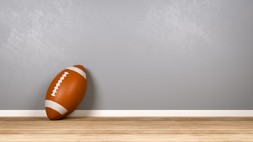 Football in the Room with Copyspace