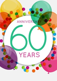 Template 60 Years Anniversary Congratulations, Greeting Card, Invitation Vector Illustration EPS10. Template 60 Years Anniversary Congratulations, Greeting Card, Invitation Vector Illustration