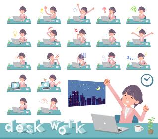 flat Formal jacket skirt women_desk work