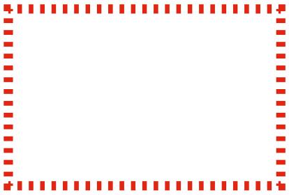 赤い点線の枠のシンプルなフレームイラスト