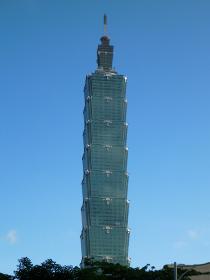 台湾のランドマークタワーである台北101の昼間の様子