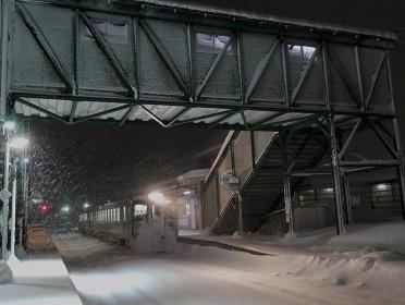 豪雪下の米坂線