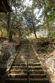 西伊豆 雲見浅間神社の参道の階段