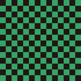 市松模様 黒×緑 M 4