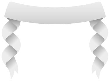 ベクターデザイン素材 / 光沢感のあるリボンバナー (文字スペース・コピースペース)