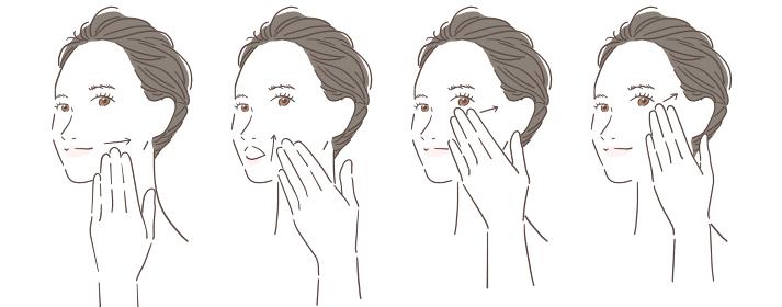 女性 顔 エクササイズ