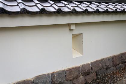忍城址の城壁と狭間