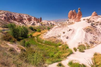 トルコ・カッパドキア 夏のラクダ岩の風景