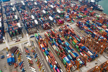Kwai Tsing , Hong Kong, 09 October 2018:- Cargo Container Port in Hong Kong