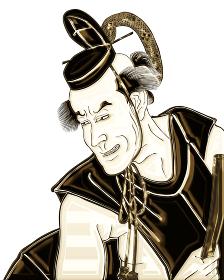 浮世絵 歌舞伎役者 その7 金バージョン