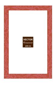 手描きの草花で作った長方形のフレーム 飾り罫・飾り枠 オーナメント 背景 ベクターデータ