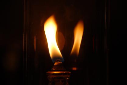 ランプの火