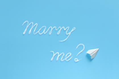 飛行機雲で文字を書く紙飛行機 2 プロポーズ