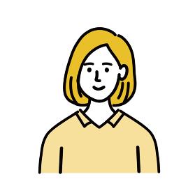 女性 金髪 若い ベクター ポップ