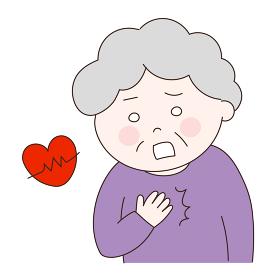 年配の女性 心疾患 イラスト