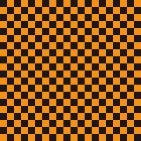 市松模様 黒×オレンジ S