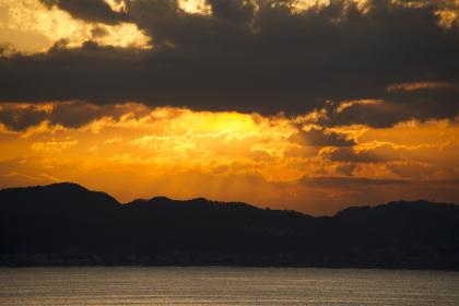 江の島から葉山の夜明け