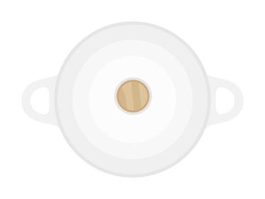 調理鍋のイラスト