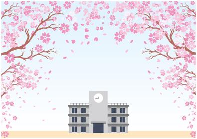 学校 入学式 春 桜
