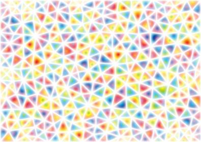 ソフトな色合いの三角形のモザイク模様