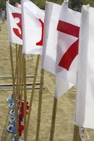 運動会の入賞順番の旗